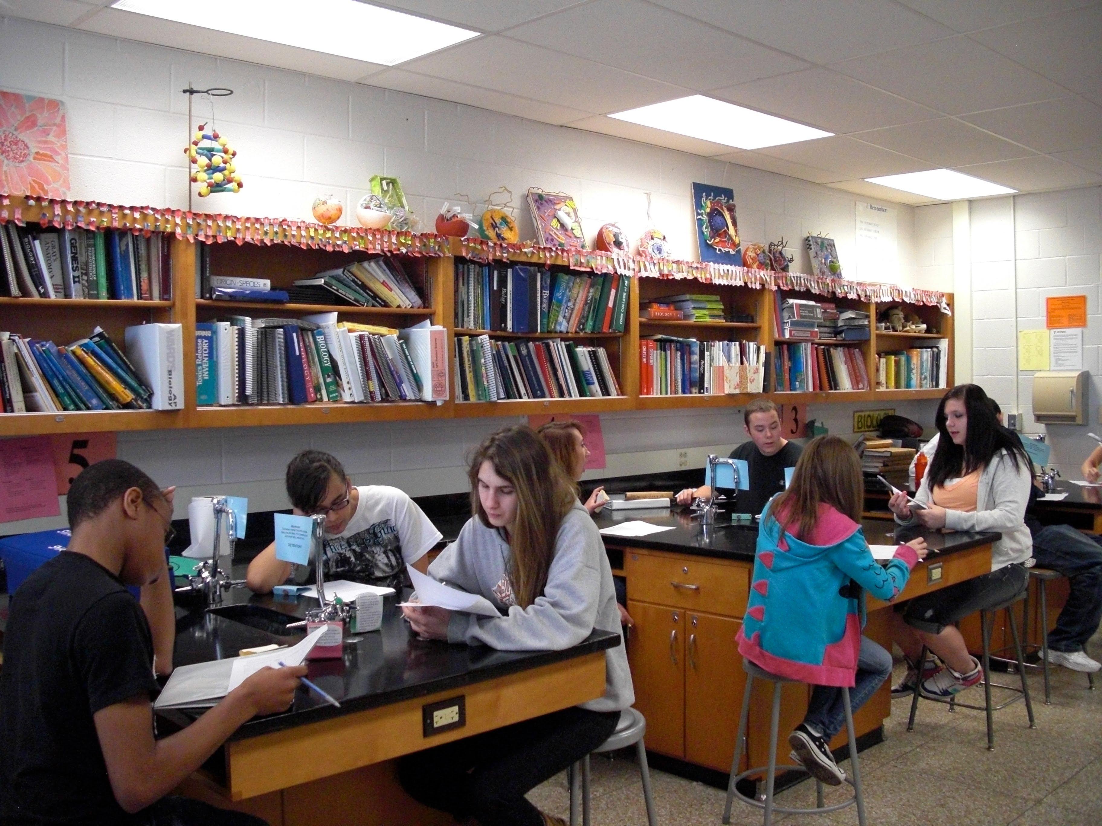 high school bio class lab tablesoriginal